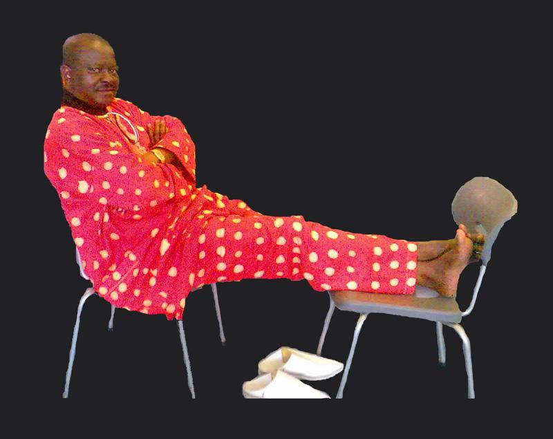 Beriso Lutonda reclining