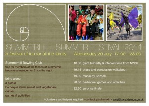 come to the first summerhill festival and become a member